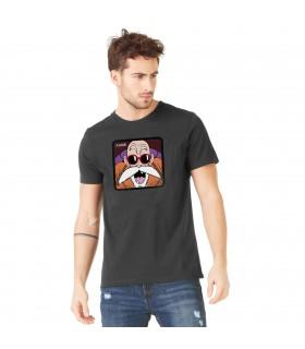 Men's Capslab cotton Tee Shirt Dragon Ball Z Kame Grey