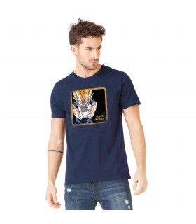 Men's Dragon Ball Z Majin Vegeta Blue cotton Tee Shirt