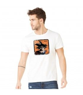 Men's Dragon Ball Z Goku White cotton Tee shirt