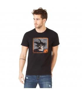 Men's Capslab cotton Tee Shirt Dragon Ball Z Goku Black