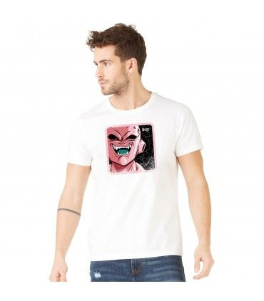 T-Shirt coton homme Dragon Ball Z Buu Blanc