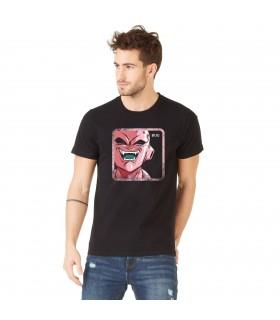 Men's Capslab cotton Tee Shirt Dragon Ball Z Buu Black