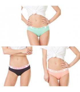 Lot de 3 boxers femme Soft Touch Multicolore