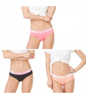 Lot x 3 boxers femme Soft Touch Rose