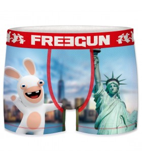 Boxer homme motifs lapins crétins new york freegun