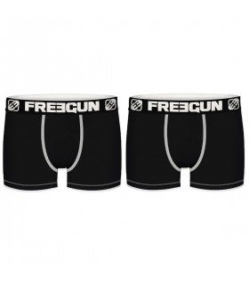 Pack of 2 cotton men's unicolore Black Boxers