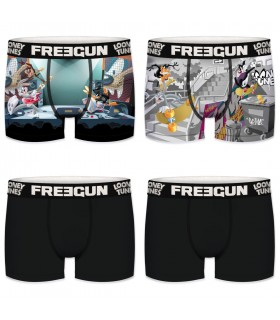 Lot de 4 boxers garçon looney tunes freegun