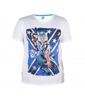 T-shirt Freegun homme Chat