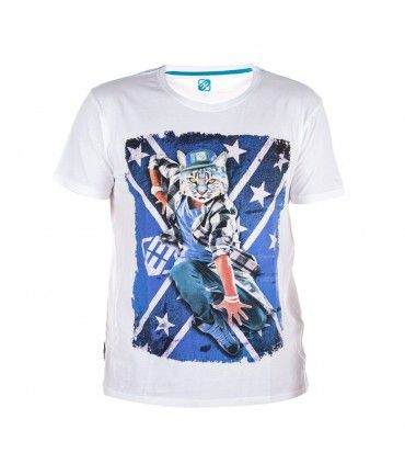 Men's Cat White Tee-shirt