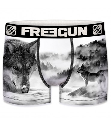 Men's Animals Wolf Boxer