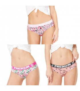 Pack of 3 women's Girly Miss Freegun Boxers