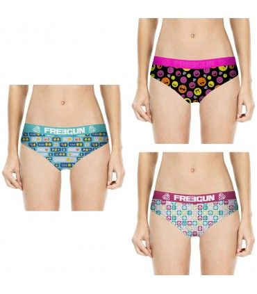 Lot de 3 boxers fille Emotik