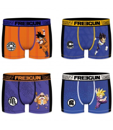 Pack of 4 men's Aktiv Sport Dragon Ball Z Boxers