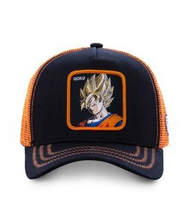 Casquette Junior Capslab Dragon Ball Z Goku Saiyen vue de face