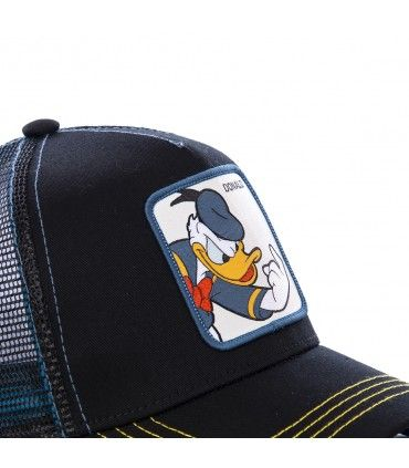 Donald Disney Junior Black Cap with mesh