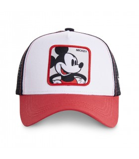 Mickey Disney Junior White and Red Cap with mesh