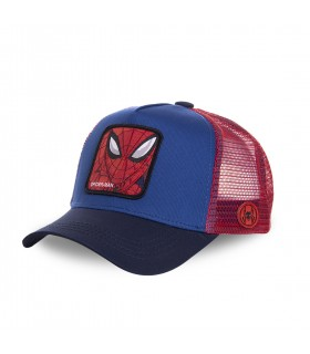 Spider-Man Marvel Junior Red and Blue Cap with mesh