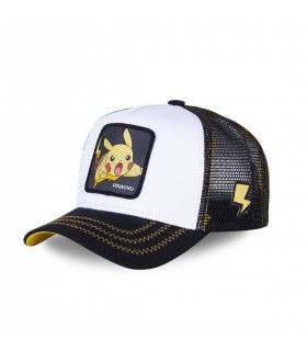 Pokemon Pikachu Junior Black and White Cap with mesh