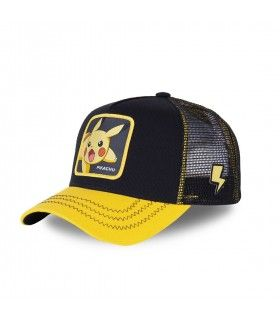 Pokemon Pikachu Junior Black and Yellow Cap with mesh