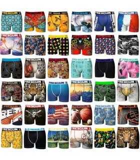 grille de boxers surprise avec motifs multicolore