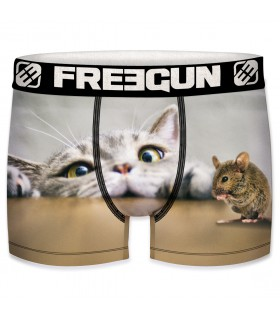 Boxer homme Freegun chat
