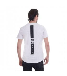 T-Shirt Homme Freegun Never Stop Gris