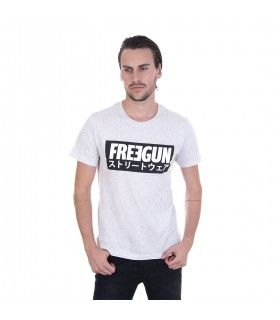 T-shirt Freegun homme Never Stop Gris