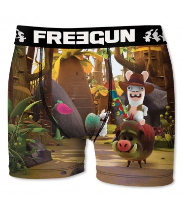 Raving Rabbids Cow Boy Men's Boxer