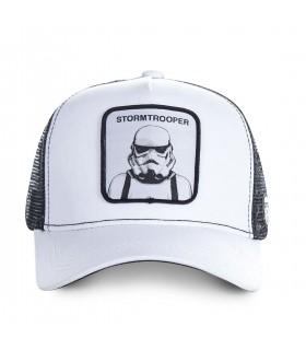 Men's Capslab Stormtrooper White Trucker Cap