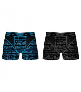 Pack of 2 men's Aktiv Triangle Black and Blue Boxers