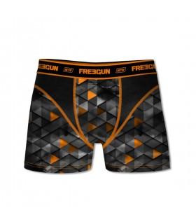 Pack of 2 men's Aktiv Triangle Black and Orange Boxers