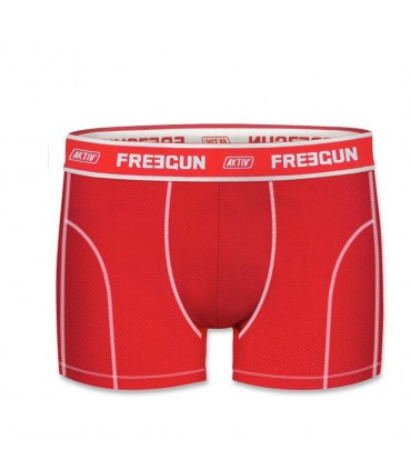 Aktiv Red and White Men's Boxer colorz