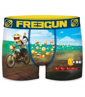 Men's Moto Racer Smiley Boxer