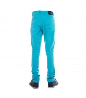 Pantalon Garçon Skinny Turquoise