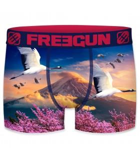 Boxer Freegun polyester recyclé homme Japaneese Bird