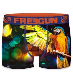 Boxer Freegun polyester recyclé homme Parrot