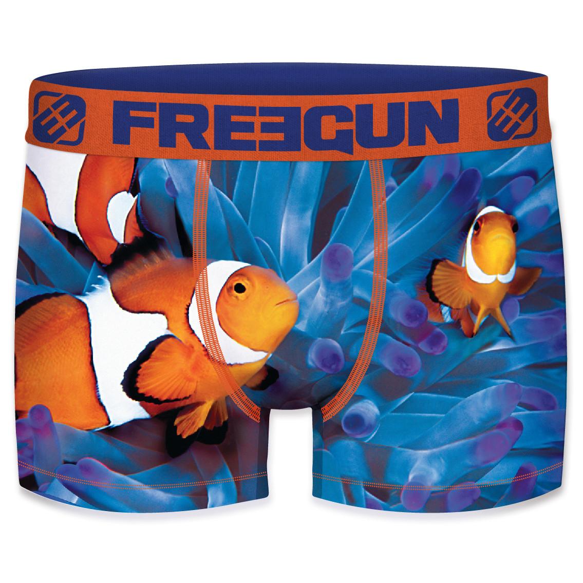 Boxer freegun homme polyester recyclé ocean life nemo