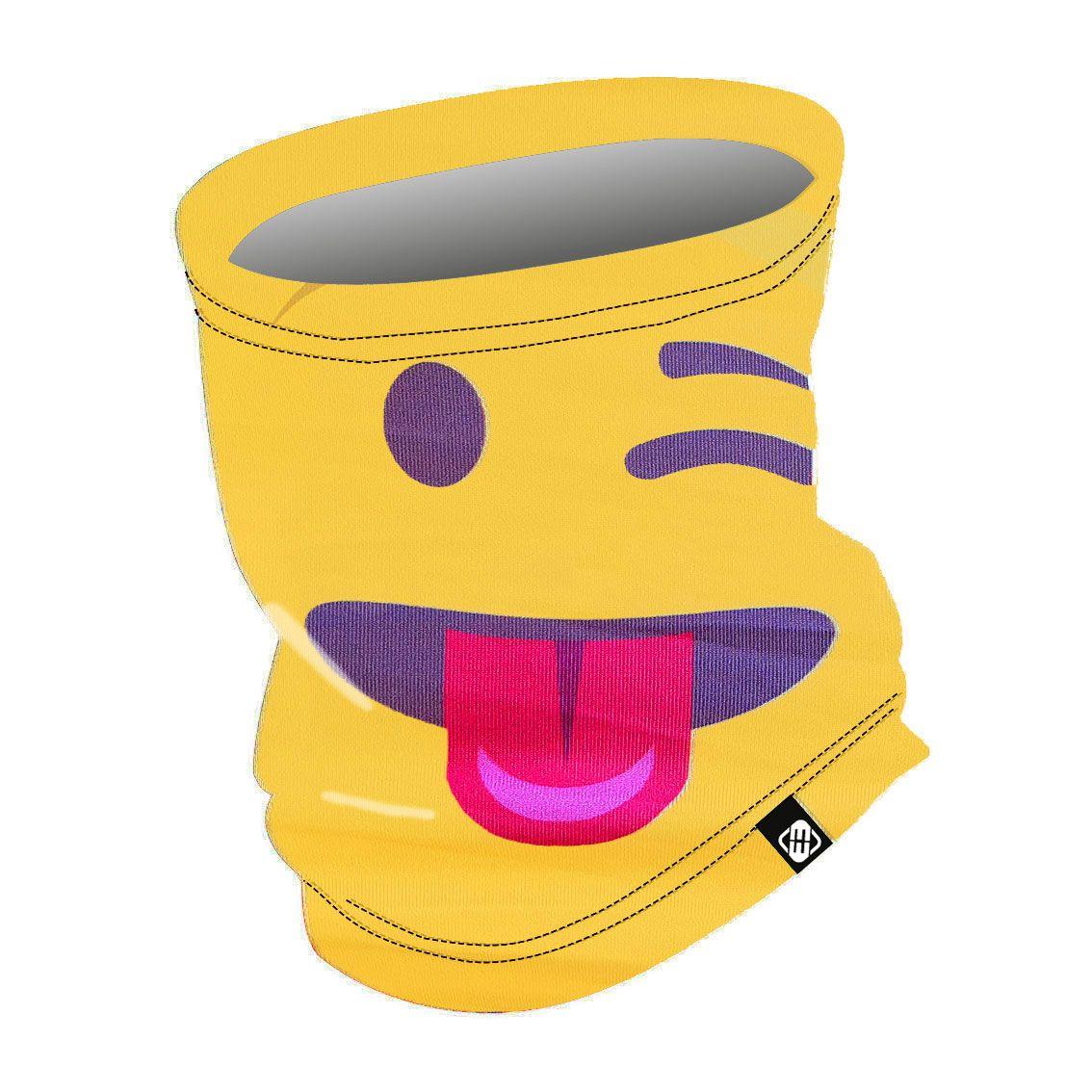 Tour de cou enfant emotik jaune (photo)