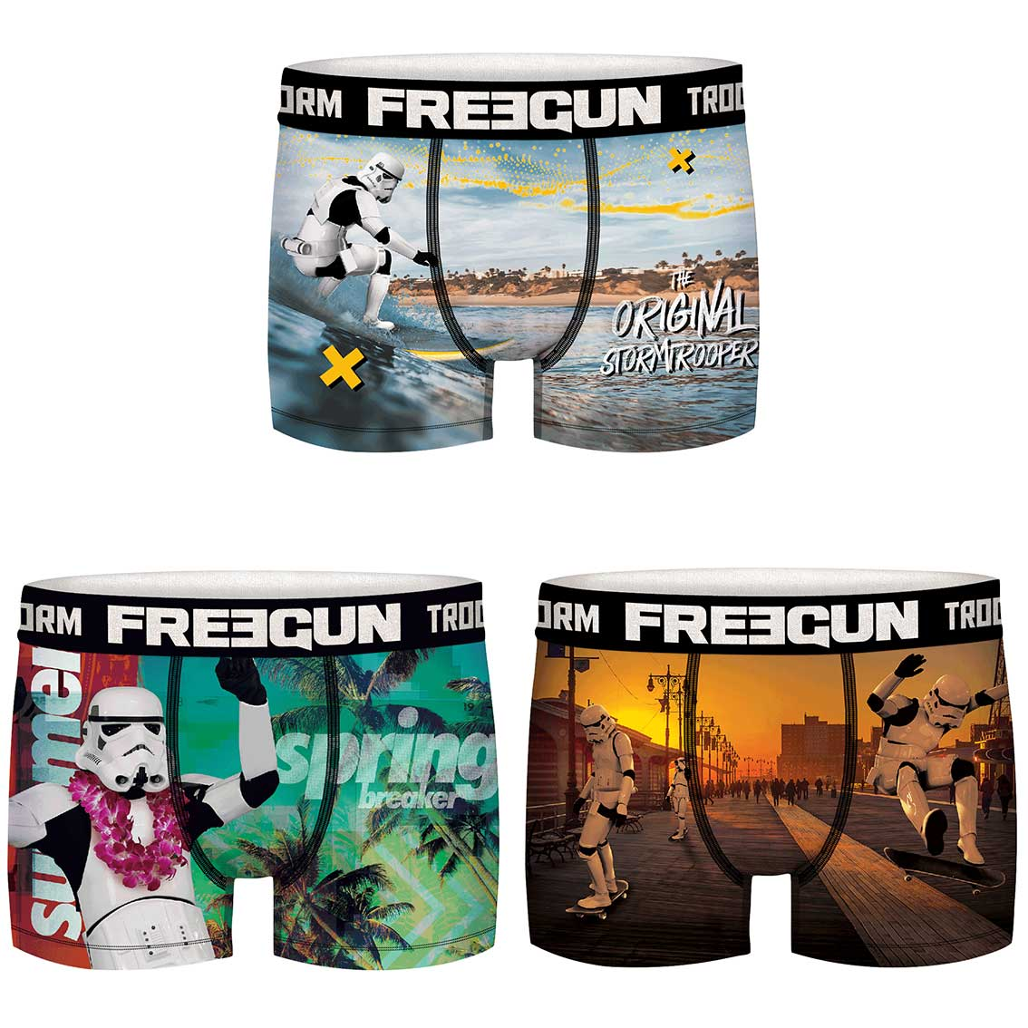 Lot de 3 boxers freegun homme stormtrooper v
