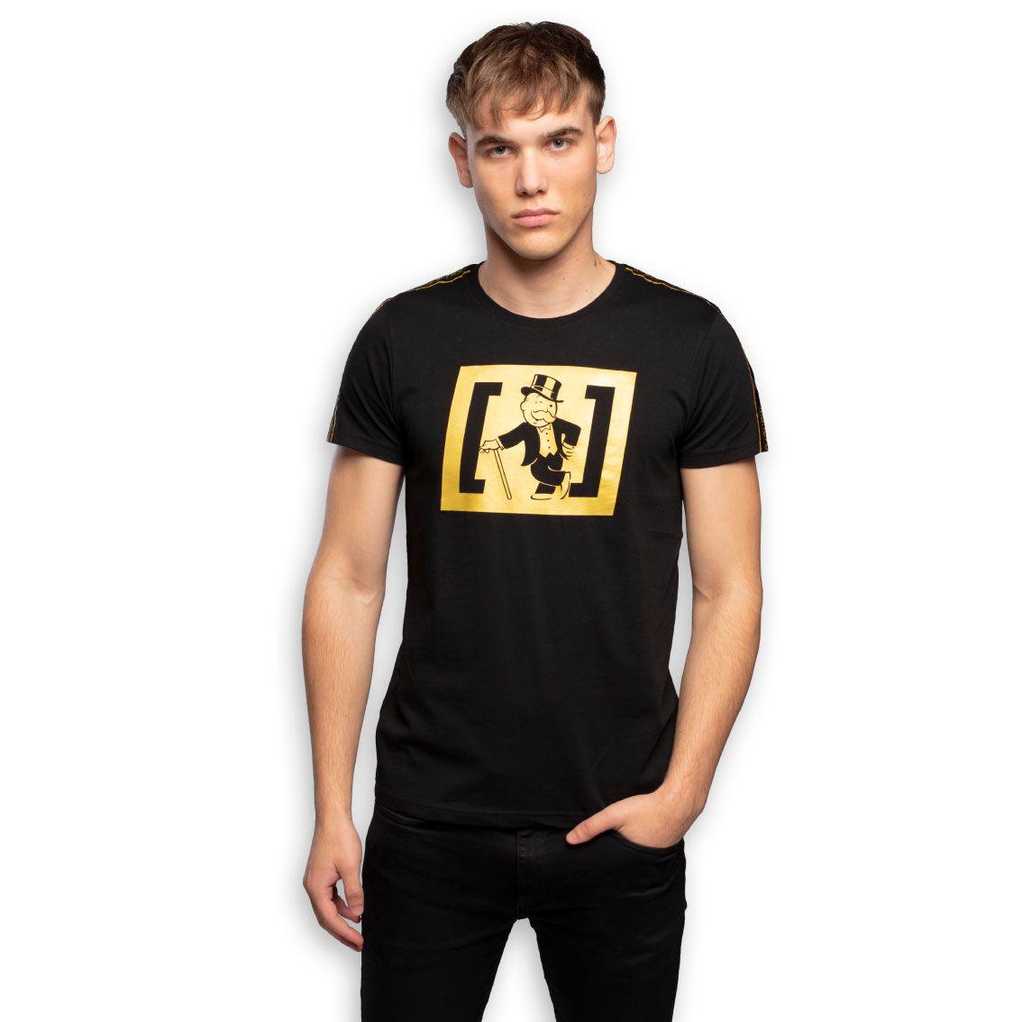 T-shirt homme monopoly rich noir (photo)
