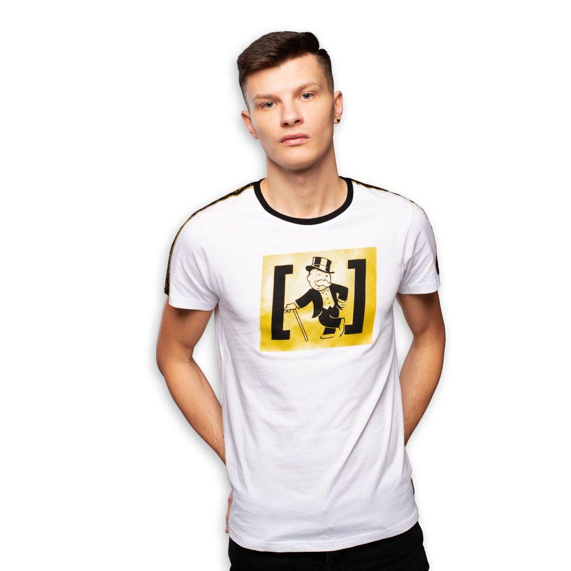 T-shirt homme monopoly rich blanc (photo)