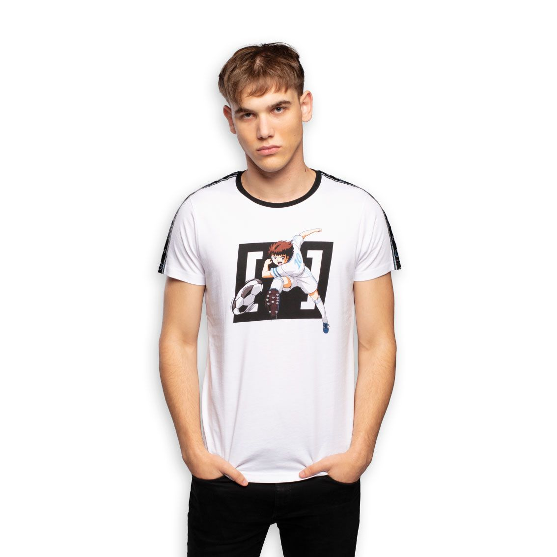 T-shirt homme captain tsubasa blanc (photo)