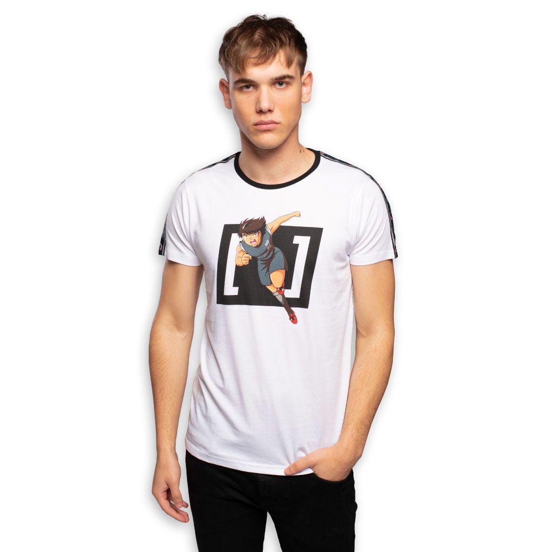 T-shirt homme captain tsubasa kojiro blanc