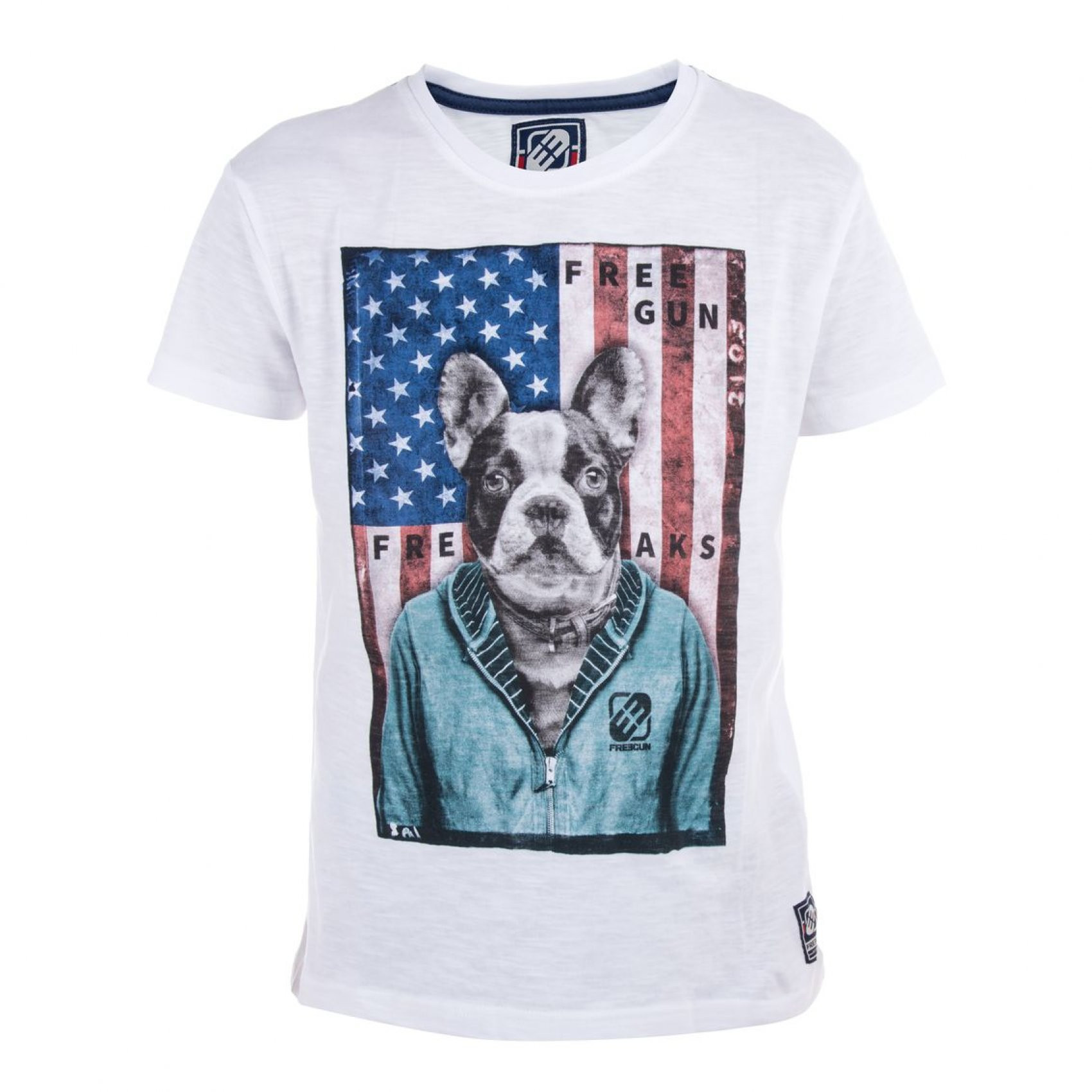 Tee shirt garçon babyz imprimé dog freegun. (photo)