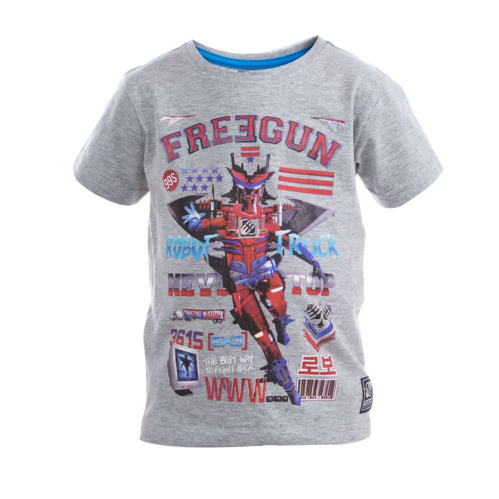 Tee shirt garçon babyz imprimé rouge freegun. (photo)