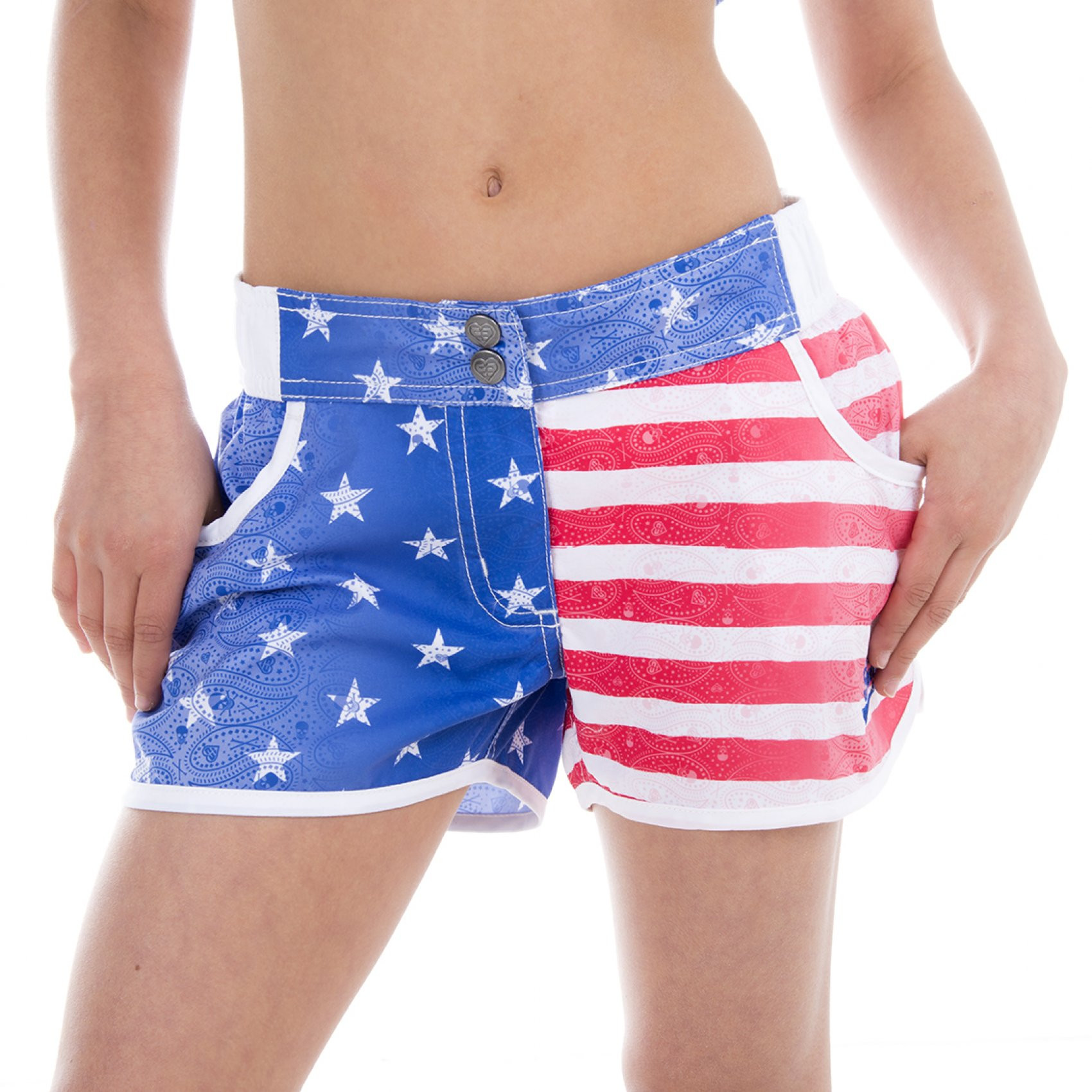 Boardshort fille miss freegun imprimé usa (photo)