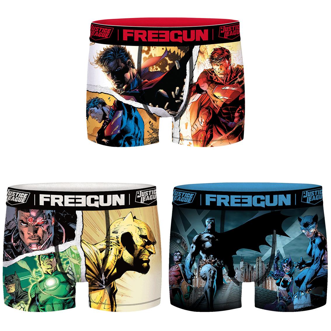 Lot de 3 boxers freegun homme dc comics (photo)