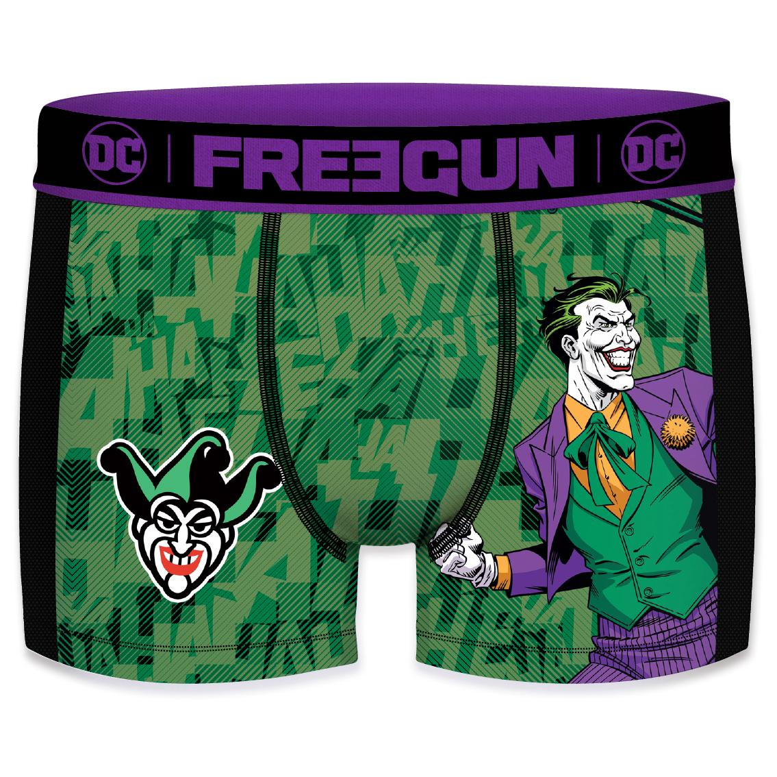 Boxer freegun homme aktiv dc comics joker mesh 2 cote (photo)