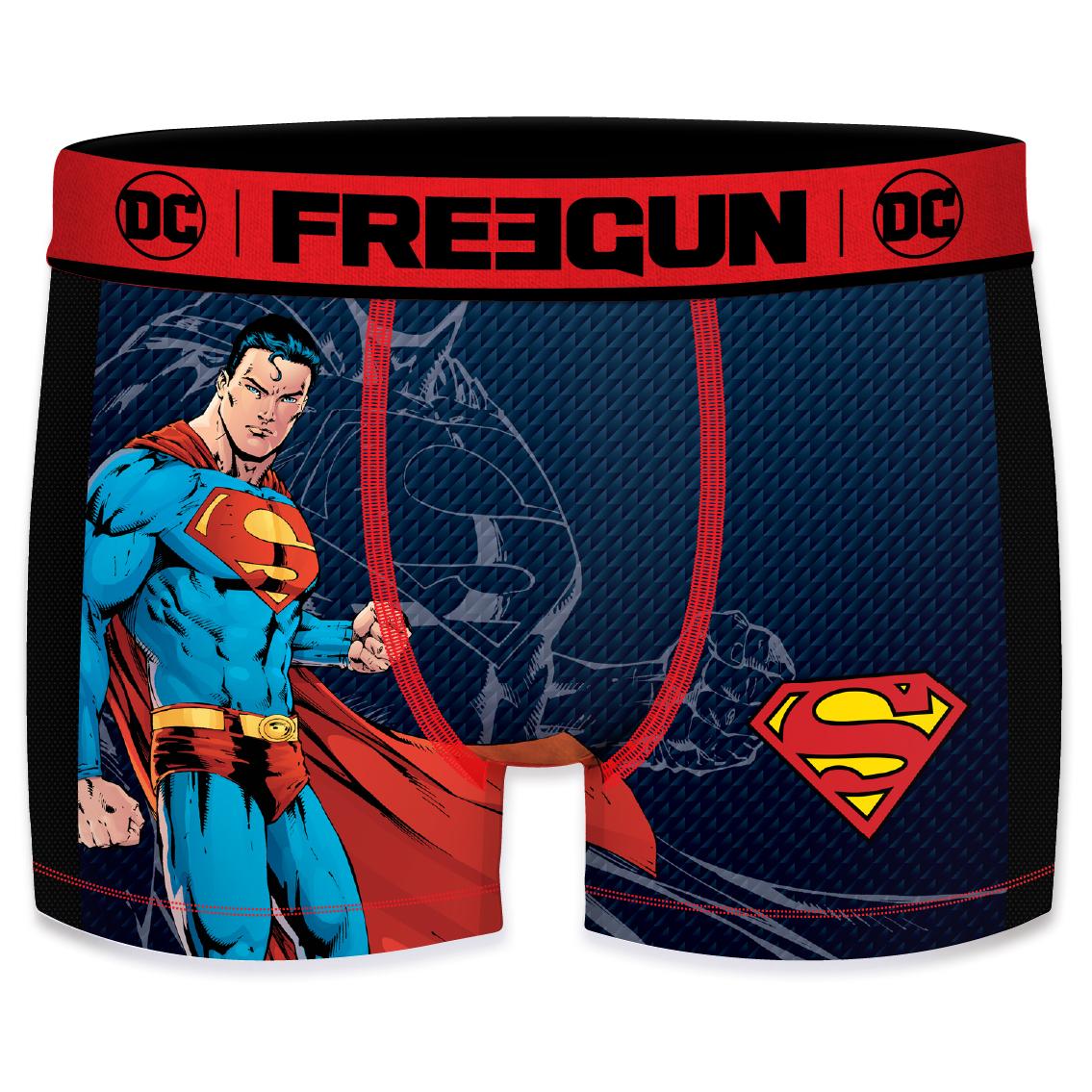 Boxer freegun homme aktiv dc comics superman mesh 2 cote (photo)