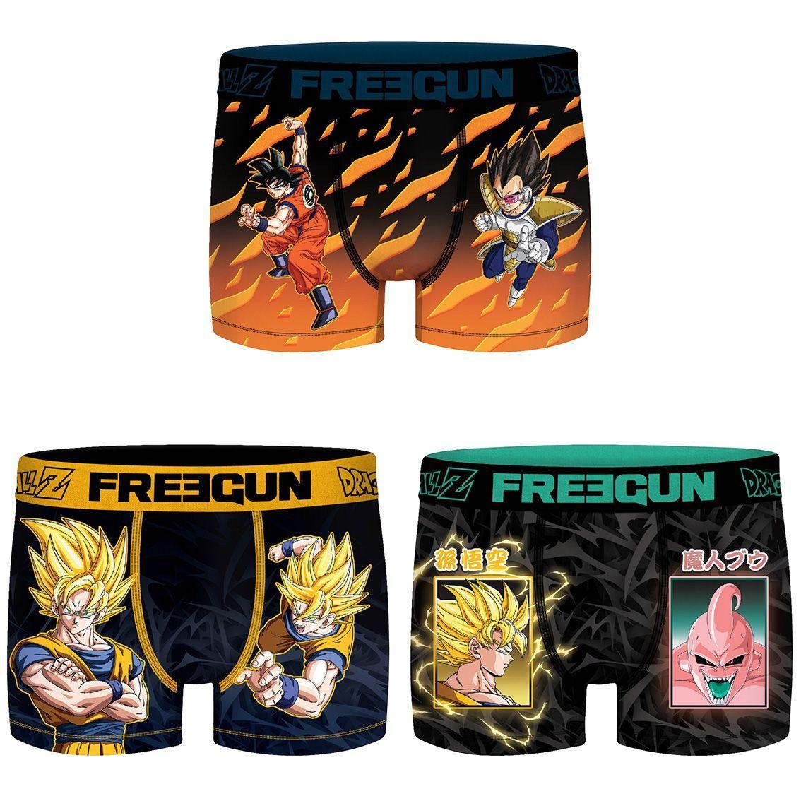 Lot de 3 boxers freegun homme dragon ball z (photo)